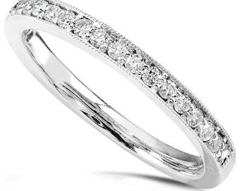 Diamand Wedding Band 1/5 carat (ctw) in 14k White Gold