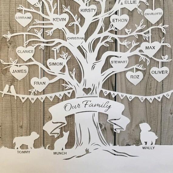 Tree Papercutting Template Papercut Your Own Beautiful Family