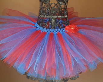 Spider Girl Tutu, red & blue tutu, birthday, Newborn Tutu,Infant Tutu, Ballerina, Baby Girl Tutu, costume