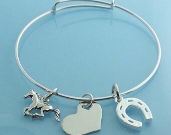 Lucky Horse Charm Bracelet for Dee