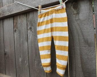 Mustard Stripe Baby Leggings // Baby Legging // Baby Leggings // Baby Clothes // Baby Boy Legging // Baby Girl Legging