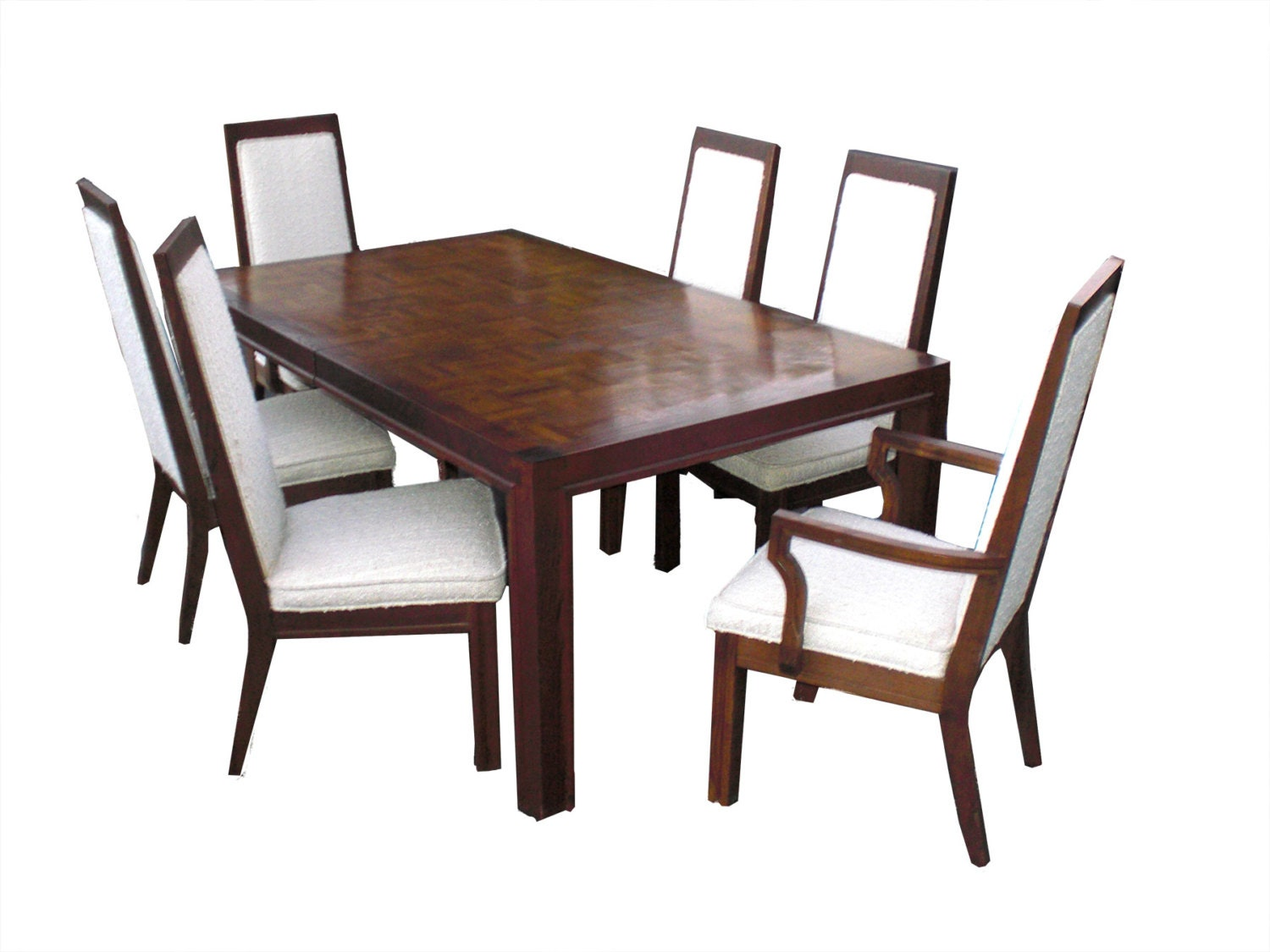 Mid Century Modern Wood Dining Table W 6 Chairs By Formica Made In