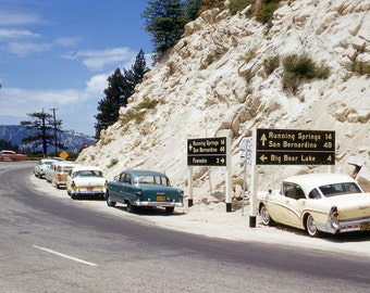 Trip to Big Bear California 1950's from Kodachrome slide