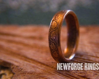 Canadian Cent Coin Ring