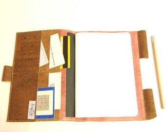 Handmade Cork Folder for Books, Blocks or Schedules
