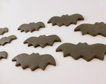 24 Bat Cupcake Toppers, Halloween cupcake toppers, sugar bats