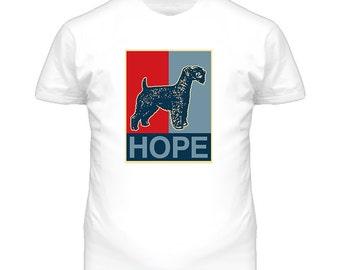 Kerry Blue Terrier Custom Dog Breed Hope Parody T Shirt