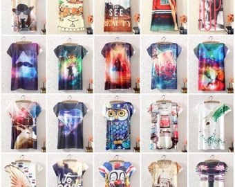 Wonderful t-shirts with infinite possibilities