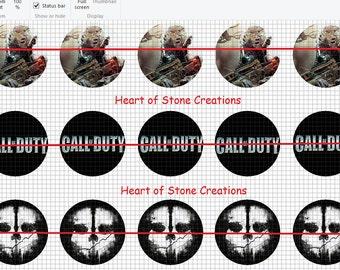 Call of Duty Bottle Cap Image Sheet
