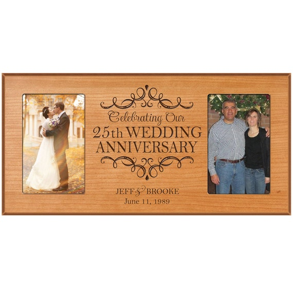 25th Wedding Anniversary Gift Ideas For Him: 25th Wedding Anniversary Photo Frame By DaySpringMilestones