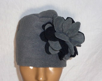 These fleece hats with a bold and beautiful flower that accentuates one side is the perfect hat to match any of our handmade serapes.