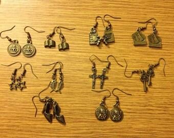 Vintage metal earring