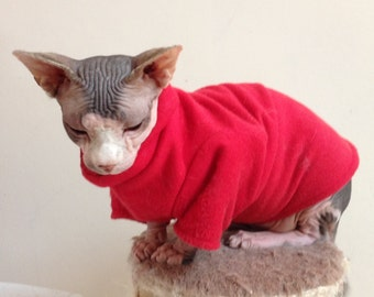 Fleece T-Shirt for Sphynx Cat - Cat/Dog Clothes