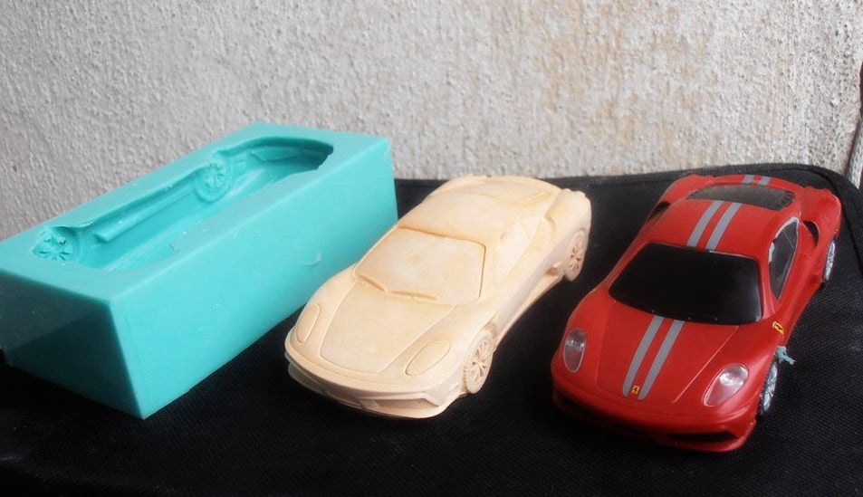 Silicone Mould Ferrari Car Sugarcraft Cake Decorating Fondant