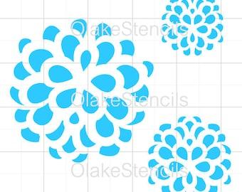 OLG049 Flower stencil