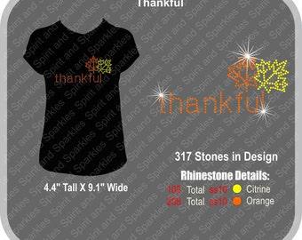 Thankful Rhinestone T-Shirt, Tank or Hoodie
