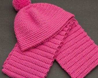 Jina | Crochet Children's Scarf Set - Ready to Ship