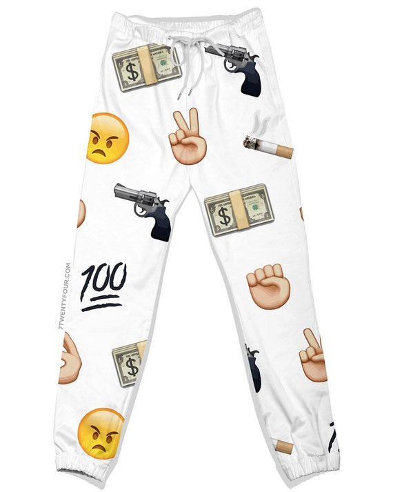 Items similar to Killa Emoji Joggers - JAll Over Print ...