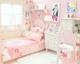 "Bedroom OOAK Diorama ""Pink Kaleidoskope"" Blythe/Pullip/BJD/Pure Neemo/Lati/Pukifee/Yosd"