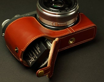 For Panasonic GX7 Leather Cameras Case, Panasonic lumix gx7 Camera Case, GX7 Case, Handmade Leather Camera Protector