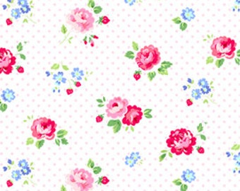 Pam Kitty for Lakehouse Pam Kitty Garden Floral Dots Pink (Half metre)