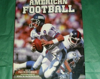 American Football Vintage Book American Sport Memorabilia NFL Eighties Collectable Hardback Packed With Glossy Colour Photos USA Sports