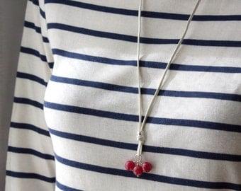Redquartz beads pendant