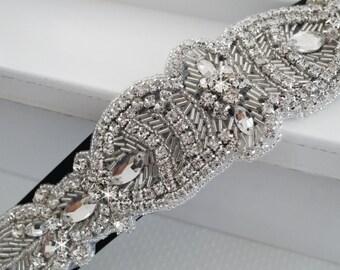 Wedding Belt, Bridal Belt, Sash Belt, Crystal Rhinestone Belt, Style 130