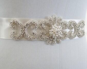 Wedding Belt, Bridal Belt, Sash Belt, Crystal Rhinestone, Style 125