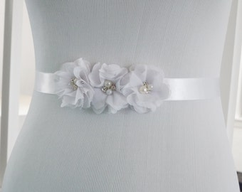 Wedding Belt, Bridal Sash, Sash Belt, Bridesmaid Sash Belt, Flower Girl Belt, Style 267