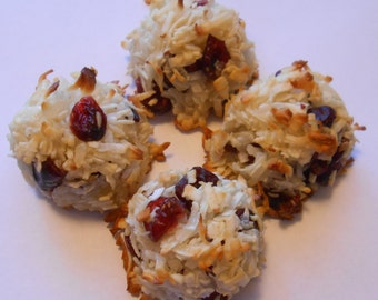 Coconut and Cranberry Macaroon