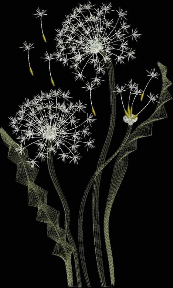 Dandelion Machine Embroidery Design