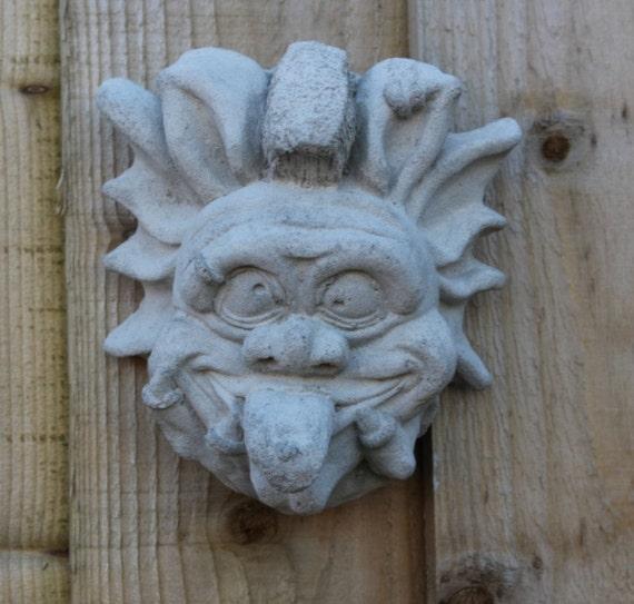 Wall gargoyle decoration : Cornish naughty austell gargoyle wall decor handcast stone
