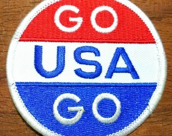 Vintage 1984 Olympic ''Go USA Go'' Embroidered Patch