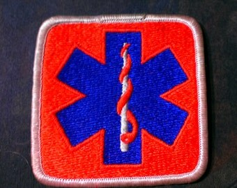 Vintage 1970's Paramedic EMT Embroidered Patch