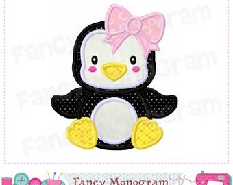 Penguin applique,Christmas applique,Penguin design,Penguin,Winter applique,Babies girl,Winter,Winter design,Happy New Year.- 01