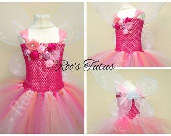 Rosetta Fairy (Tinkerbell) inspired tutu dress costume (Handmade). dress up