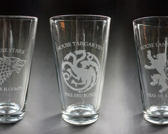 Game of Thrones - Set of 2 Pint Glasses