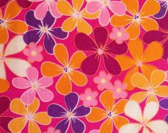 Bright Pink Flowers Burp Cloth