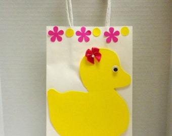 Gift Bag Ducky Bag-Gift Bags, Duck Gift Bag, Bags, Gifts, Showers, Babies, Baby Shower-GBYD-4