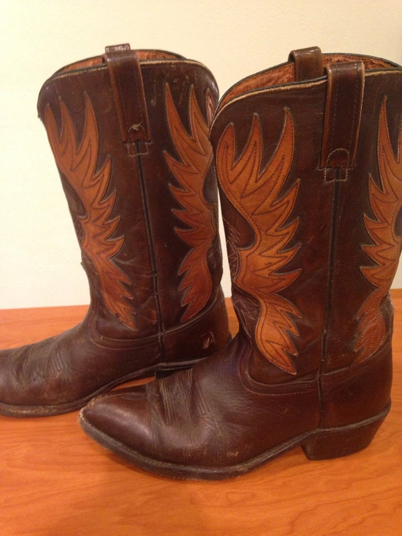 acme cowboy boots mens size 10 by thewanderingflamingo on etsy