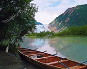 Digital Download File: Boat on Glacial Lake