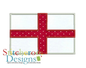 English Flag applique Design -In Hoop sizes 3x3, 4x4, 5 x 7, 7x7, 9x9- Instant Download - for Embroidery Machines