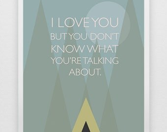 Wes Anderson Moonrise Kingdom Modern Geometric Movie Digital Download Print Printable Quote with Sam and Suzy Love Story
