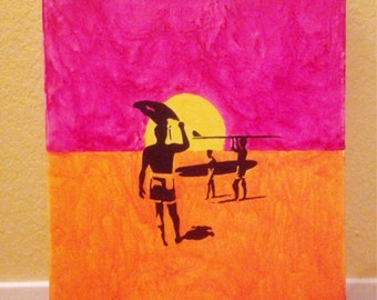 The Endless Summer Melted Crayon Art