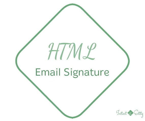 Custom HTML Email Signature | Email Marketing | Email Disclaimer | Email Tagline | Signature Template | Mail Signature | Signature Design