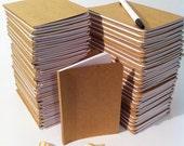Bulk Plain Notebooks, Handmade Tiny Pocket Large Journals, Personalized Journal, Mini Diaries, Jotters, Blank Books, Kraft Paper Notebook