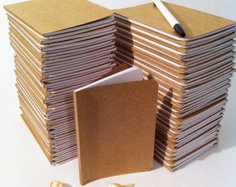 Bulk Plain Notebooks, Handmade Tiny Pocket Large Journals, Personalized Journal, Mini Diaries, Jotters, Blank Books, Kraft Paper Notebook