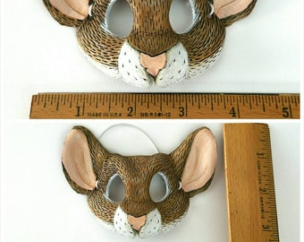 Miniature Leather Mouse Mask
