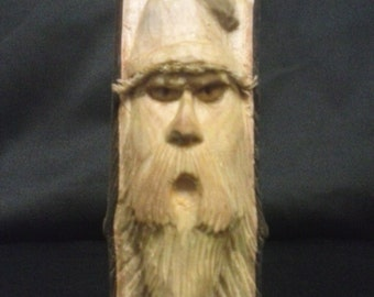 Wood Spirit Carving - Bum - Hobo - Wizard - Gnome